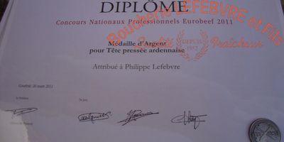 Boucherie Lefebvre - Diplômes