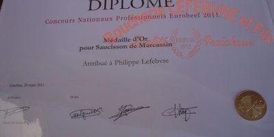 Boucherie Lefebvre - Médailles